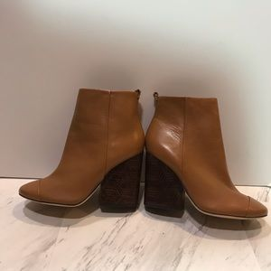 Tory Burch Shoes - Tory Burch Grove Block Heel Royal Tan Bootie
